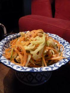 Gourmandises et Merveilles: salade de concombre et carottes aux parfums thaïs