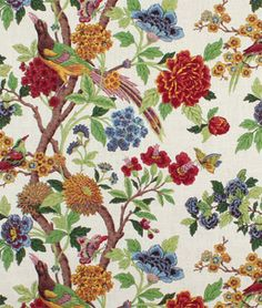 Whipporwill Summer by Richloom is a stunning floral animal print drapery décor fabric. This fabric can be used for projects like curtains, tote bags, home accents, and more. Drapery Fabric, Fabric Decor, Fabric Design, Curtains, Textiles, Textile Patterns, Purple Fabric, Floral Fabric, Fabric Wallpaper