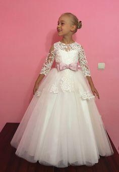 Elfenbein Blumenmädchen Kleid Hochzeitsfeier von KingdomBoutiqueUA