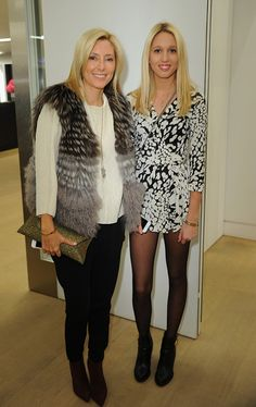 Princess Marie Chantal and Princess Olympia attend the 'Diane Von Furstenberg: Journey Of A Dress' exhibition at Phillips Gallery on November 6, 2014 in London, England.