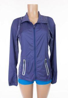 LULULEMON Run Featherweight Hybrid Jacket 8 M Royalty Purple Reflective Rare #Lululemon #ActivewearJacket