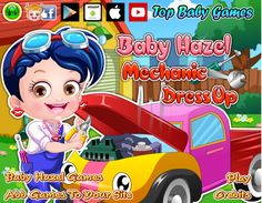 Combine various outfits and accessories give Baby Hazel a perfect mechanic makeover http://www.topbabygames.com/baby-hazel-mechanic-dressup.html