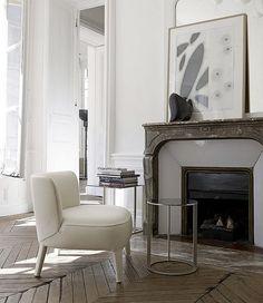 white neutral living room
