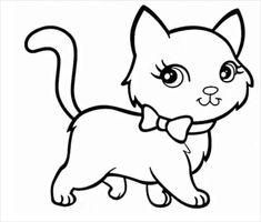 Gatos para colorear 2 Cat Template, Shape Templates, Drawing Templates, Templates Free, Cat Drawing For Kid, Simple Cat Drawing, Cat Coloring Page, Coloring Pages To Print, Colouring Pages