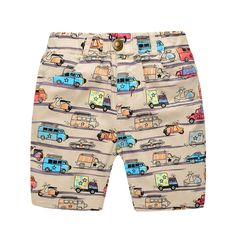 >> Click to Buy << 2 -7Y Summer Casual Boys Print Shorts Kids Clothing Cartoon Mid Waist Pants Free Shipping #Affiliate