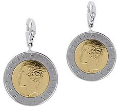 Vicenza Silver Sterling Set of 2 500-Lire Coin Charms