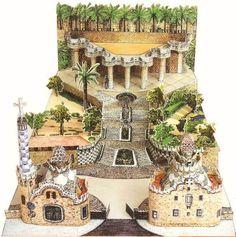 Gaudí Barcelona Club Gaudi, Paper Models, Big Ben, Advent Calendar, Barcelona, Cartoon, Landscape, Park, Holiday Decor