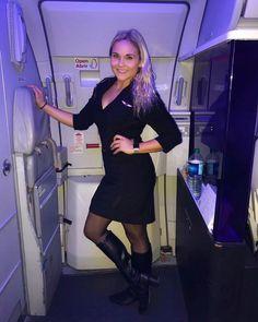 I Love Girls, Delta Flight Attendant, Air Hostess Uniform, Cool Tights, Celebrity Boots, Black Pantyhose, Nylons, Cabin Crew, Boots
