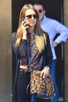 leopard handbag.