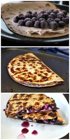 Blueberry Breakfast Quesadilla