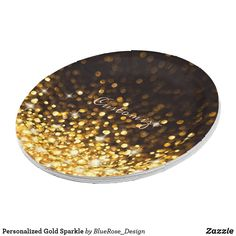 Personalized Gold Sparkle Paper Plate Paper Napkins, Paper Plates, Cake Servings, Gold Sparkle, Party Items, New Years Party, Party Tableware, Favor Boxes, Christmas Card Holders