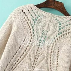 Stylish V-Neck Long Sleeve Crochet Hollow Out Sweater For WomenSweaters & Cardigans | RoseGal.com