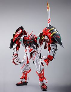 GUNDAM GUY: Tamashii Web Shop Exclusive: Metal Build Gundam Astray Red Frame Powered Red & 150 Gerbera Option Set - Release Info