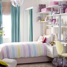 White home office with multicoloured furnishings Home office