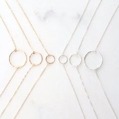 Karma Ring Necklace // Circle Necklace, Hammered Eternity Necklace, Delicate Circle Necklace in 14k Gold ,Silver By Femina Handmade // N106