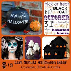 Last Minute Halloween Ideas  Crafts, Treats & Costumes!  via www.GrandmaJuice.net