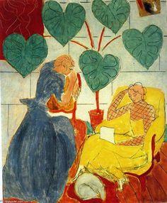 'zwei frauen', öl auf leinwand von Henri Matisse (1869-1954, France)