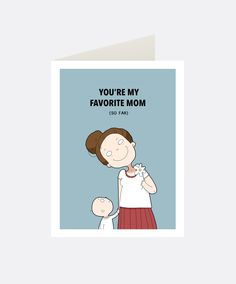 Favorite Mom Greeting Card | Lingvistov