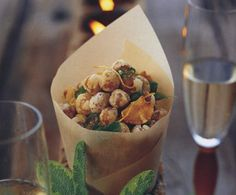 crispy chickpeas w/ garlic & sage, Napa Style