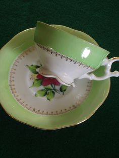 Vintage Lusterware Tea Cup and Saucer by Rocky1975 on Etsy, $18.00