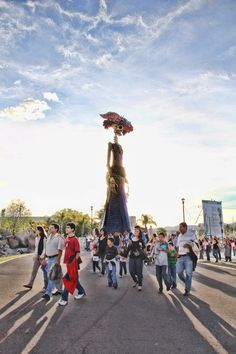 Catrina Gigante  Festival de Calaveras  Aguascalientes, Mexico