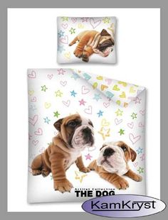 Pościel ze szczeniętami - pościel dla małych i dużych miłośników psów.