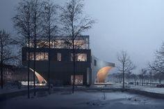 Temple University Library by Snøhetta #architecture #architect #visualization #exterior #design
