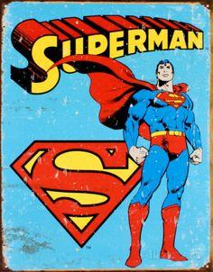 Superman Emaille bord bij AllPosters.nl