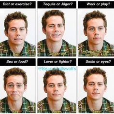 Dylan O'Brien...so cute and funny.