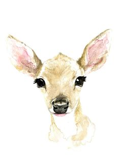 Watercolor Print Fawn Aquarell DruckPrint Print or printing commonly refers to: Print or printing may also refer to: Watercolor Animals, Watercolor Print, Watercolour Painting, Fox Painting, Deer Art, Animal Paintings, Painting Inspiration, Vector Art, Art Drawings