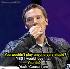 """No you're not Benedict! But you do need to do more """"Cabin Pressure"""" comedy-esque roles!"""