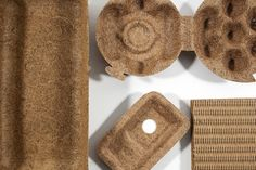CocoForm Fruit Packaging, Food Packaging Design, Material Research, Innovative Packaging, Plastic Design, Coir, Bottle Design, Material Design, Sustainable Design