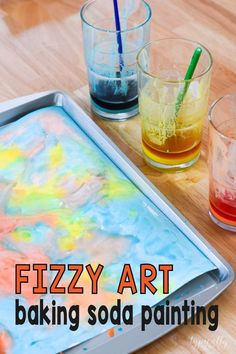 Fizzy Art - Baking Soda Paint