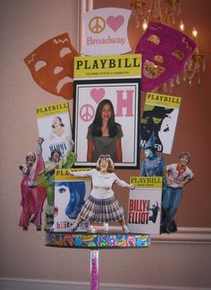 Broadway Themed Diorama Centerpiece with Character Cutouts