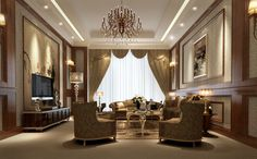 Photos of Luxury living rooms | Luxury living room 3D Model .max - CGTrader.com