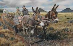 The common Karoo donkey-cart Burritos, Cute Donkey, South Afrika, Beaches In The World, My Land, Most Beautiful Beaches, Farm Yard, Horse Art, Farm Animals