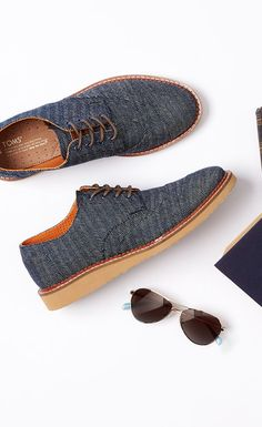 Business or casual? How about both. Check out the latest from our men's Brogue collection featuring these in navy denim herringbone. #TOMS Give Back to School Contest