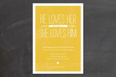 weddingwhims:    (via Quite Simply Wedding Invitations by robin ott desi… | Minted)