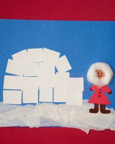 Here's a great activity to help them satisfy their snow play cravings in a cozy indoor setting. They can create their very own igloo picture!