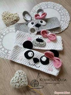 Luty Artes Crochet: Faixas de cabelo de crochê Luty Artes C … – Herzlich willkommen Baby Girl Crochet, Crochet Baby Clothes, Crochet Baby Hats, Crochet Beanie, Crochet For Kids, Crochet Headbands, Diy Crafts Crochet, Crochet Gifts, Crochet Projects