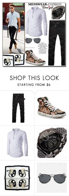 """""""Inspired Look by Rosegal 19/I"""" by esma178 ❤ liked on Polyvore featuring Yves Saint Laurent, Folio, men's fashion and menswear"""