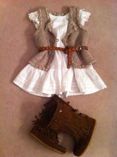 Love this outfit for my baby girl Little Girl Outfits, Little Girl Fashion, Toddler Fashion, Toddler Outfits, Kids Fashion, Toddler Cowgirl Outfit, Fashion 2016, Fashion Trends, Lila Baby