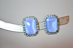 1950s Vintage Blue Moonstone Cabochon and by TabbysVintageShop, $15.00