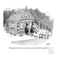 """""""Remember when we used to have to fatten the kids up first?"""" - New Yorker Cartoon Premium Giclee Print"""