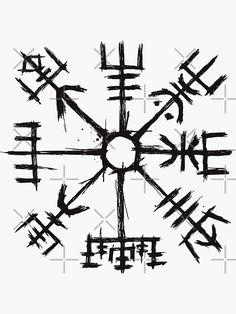 Viking Compass Tattoo, Viking Tattoo Sleeve, Viking Tattoo Symbol, Norse Tattoo, Celtic Tattoos, Viking Tattoo Design, Viking Symbols, Viking Art, Viking Runes