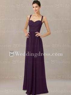 Longues robes de demoiselle d'honneur en mousseline de soie avec r�servoir Straps BR058