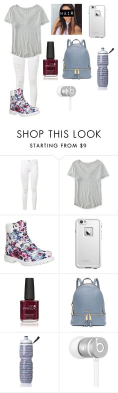 """""""Glad it's Friday"""" by amarianamichelle ❤ liked on Polyvore featuring Frame Denim, Aéropostale, Timberland, LifeProof, Creative, Michael Kors, Victoria's Secret, Beats by Dr. Dre, women's clothing and women"""