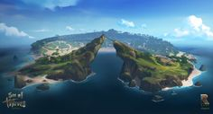 Sea of Thieves Concept Art: The Crow's Nest Sea Of Thieves Game, Pirate Island, Crow's Nest, Fantasy Island, Island Design, Dark Fantasy Art, Environment Design, Environmental Art, Art Google