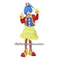 Tu mejor disfraz de payasa infantil para niña bt 08117.Este comodísimo traje es perfecto para carnavales, espectáculos, cumpleaños y tambien para las fiesta de los colegios como fin de curso o cualquier otras actividades.