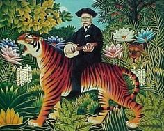 Sometimes you ride the tiger, other times the tiger rides you. : Traumgarten by Henri Rousseau